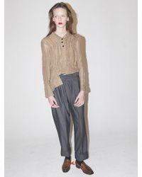 Bouton - Vintage Shirring Blouse - Sand - Lyst