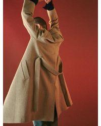 Bouton - Right Coat- Beige - Lyst
