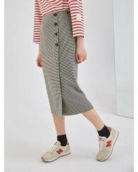 COLLABOTORY - Baama7005m Plaid Midi Wrap Skirt - Lyst