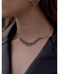VIOLLINA - Another V Small Statement Necklace - Lyst