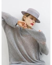 Awesome Needs - Lambs Wool Boater Hat_grey - Lyst