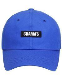 Charm's - [unisex] Basic Logo Cap Bl - Lyst