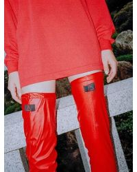 CLUT STUDIO - 0 8 Leather Over Knee Socks - Red - Lyst