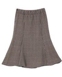 a.t.corner - Navy Acryl Hound Tooth Skirt Atsk7d139n2 - Lyst