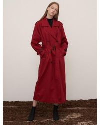 1159 STUDIOS - Mh7 1159 Trench Gold Ring Long Coat_brickred - Lyst