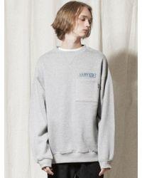 W Concept - [unisex] Lt244 Happy Vibes Pocket Sweatshirts Mela - Lyst