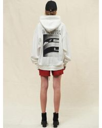 SLEAZY CORNER - Ch01 Overfit Hoodie White - Lyst
