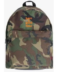 W Concept - Logo Backpack - Camo - Lyst
