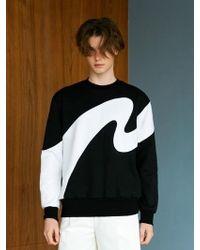 BONNIE&BLANCHE - Big Wave Sweatshirt Black - Lyst