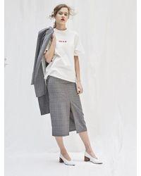 AEER   Glencheck Front Slit Skirt   Lyst