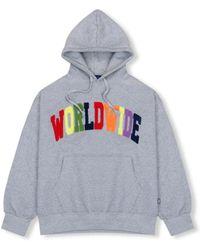 W Concept - Rainbow Worldwide Hoodie Grey - Lyst