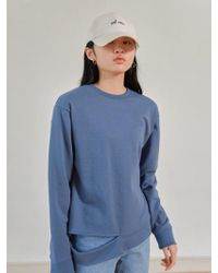 W Concept - Mood Sweatshirt Blue - Lyst