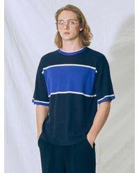 MIGNONNEUF - Block Knit T-shirt Indigo - Lyst
