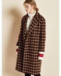 Clue de Clare - Color Block Vent Coat Brown - Lyst