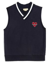 Beyond Closet - Nomantic Basic Logo Vest Navy - Lyst
