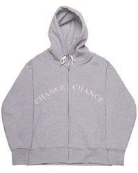 CHANCECHANCE - [unisex]logo Grey Hood Zipup Napping - Lyst