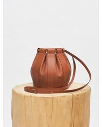 Low Classic - Leather Drawstring Small Bag - Brown - Lyst