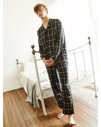 W Concept - [unisex]check Pajama Pants Black - Lyst