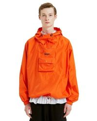 LIFUL MINIMAL GARMENTS - Multi Pocket Rip Stop Anorak Orange - Lyst