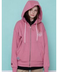 CANLEAP - [unisex] Trip To East Over Fit Hood Zip-up Pink - Lyst