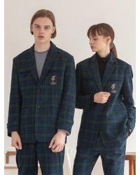 TARGETTO - [unisex] Tgt Check Jacket Green Check - Lyst