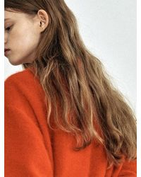 W Concept - [unisex] Red Angora Crewneck Knit Dt010 - Lyst