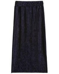 a.t.corner - Dark Navy Polyester Pleats Banding Skirts - Lyst