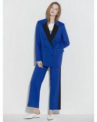 Clue de Clare - Tuxedo Detail Jacket Blue - Lyst