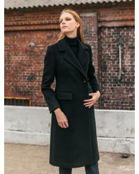 COLLABOTORY - B7cma3011m Double Slim Wool Coat Black - Lyst