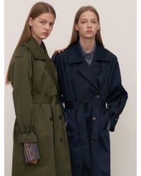 1159 STUDIOS - Mh1 1159 Trench Ring Coat Be - Lyst