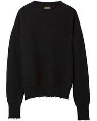 MADGOAT - Destroyed Cashmere Knit_black - Lyst