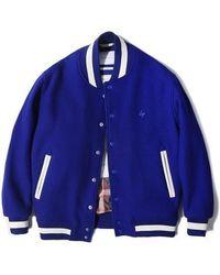 LIFUL MINIMAL GARMENTS - [unisex]ns Wool Varsity Jacket Royal Blue - Lyst