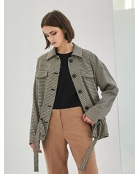 COLLABOTORY - Baama5007m Check String Easy Jacket - Lyst