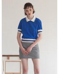 TARGETTO - Line Pique T-shirt Blue - Lyst