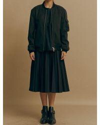 Mosca_ - Woven Pleats Skirt - Lyst
