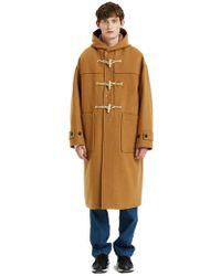 LIFUL MINIMAL GARMENTS - Melton Long Duffle Coat Camel - Lyst