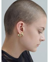 VIOLLINA - Fox Face Front Back Earring - Lyst