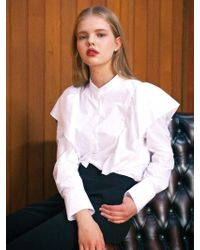 LIUNICK - Noblesse Frill Blouse White - Lyst