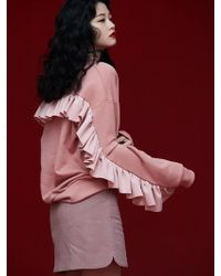 Grace Raiment - Back Ruffle Sweatshirt - Lyst