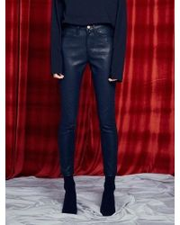 13Month - [unisex] Silm Coated Jeans Black - Lyst