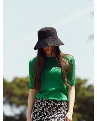 13Month - 17hot Summer Jacquard Half Sleeve Knit(green) - Lyst