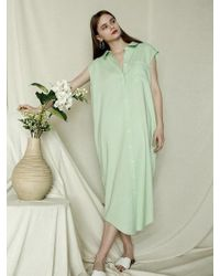 W Concept - Two Way Shirt Long Dress Mint - Lyst