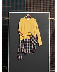 DBSW - Layered Shirt Sweatshirt Yellow - Lyst