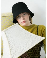 Awesome Needs - [unisex] Lambs Wool Half Round Bucket Hat-black - Lyst