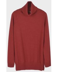 LE CASHMERE - Basic T Neck Pullover With Slits - Lyst