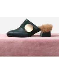 LAGRAZIA - 71870gr Luna Rabbit Fur Mule Bloafer - Lyst