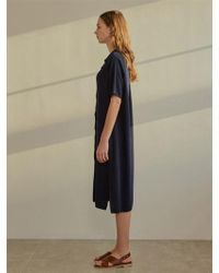 among - A Collar Knit Dress - Beige - Lyst