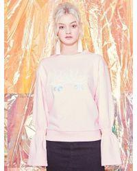 Blank - Roller Peplum Sweatshirt-pk - Lyst