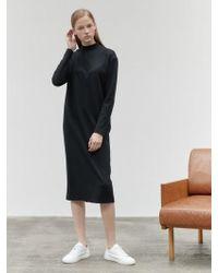 NILBY P - High Neck Jersey Dress Black - Lyst