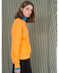 ANOTHER A - Ophelia Basic Sweatshirt Skyblue Orange Grey - Lyst
